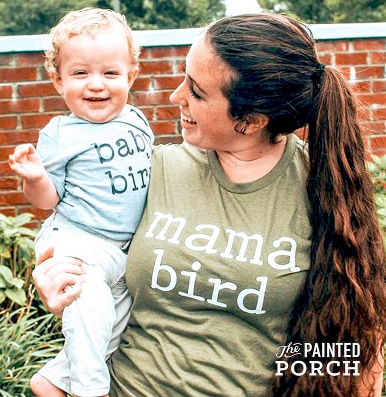 Mama Bird Shirt Mom Shirt Momma Shirt Mom Gift Gifts for image 0