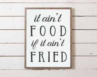 """Wall Sign """"Fried Food"""" 
