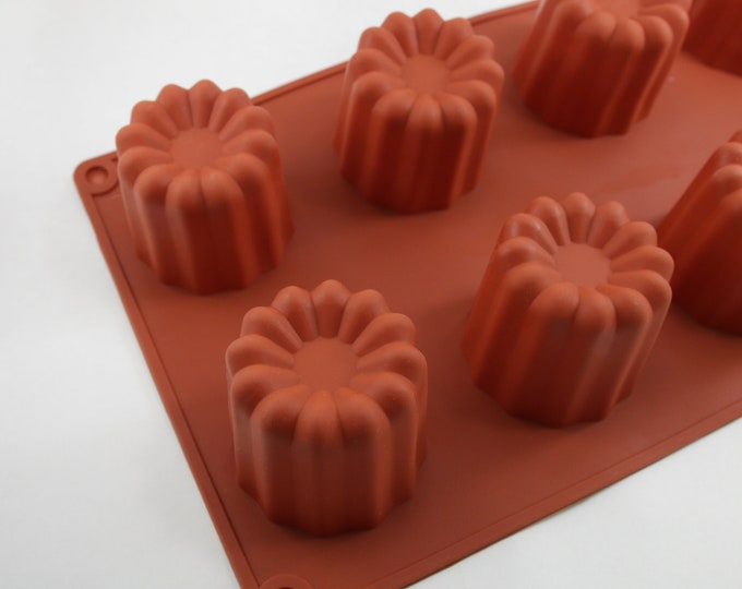 PERFECT TART Silicone Mold, 8- 2.75oz Cavities, 22 oz total, Heat Resistant Silicone, Bath Melt, Lotion Bars, Soap, Wax, Two Wild Hares
