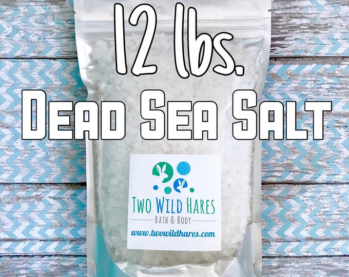 12lbs DEAD SEA Salt, Coarse Grain, Remineralizing Salt From Israel, Free Usa Ship, Two Wild Hares