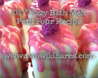 DIY Fizzy BATH MELT Petit Fours Recipe & Tutorial