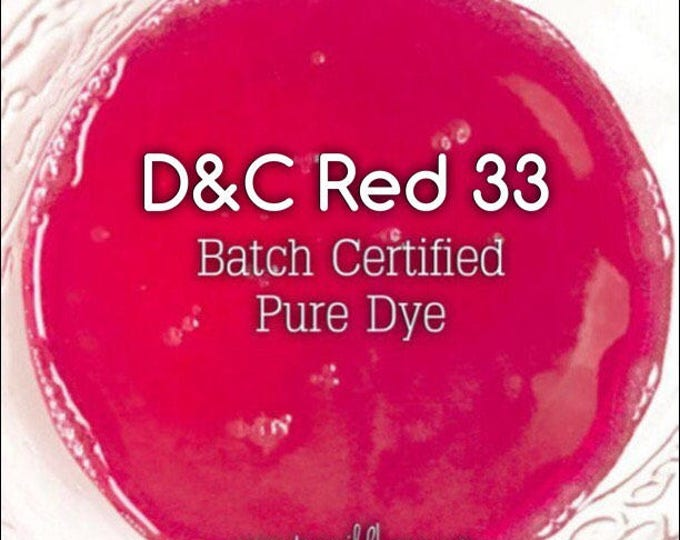 1oz. FUCHSIA Bath Bomb DYE, Batch Certified D&C Red 33, 91% Water Soluble Cosmetic Colorant, Container Packaging, Two Wild Hares