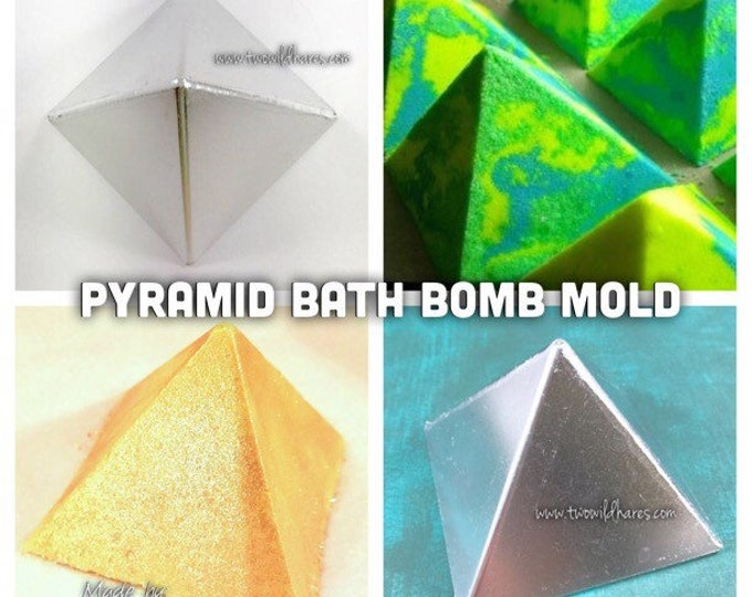 "PYRAMID Bath Bomb Mold, Metal, 2.75""x2.5"", Two Wild Hares"