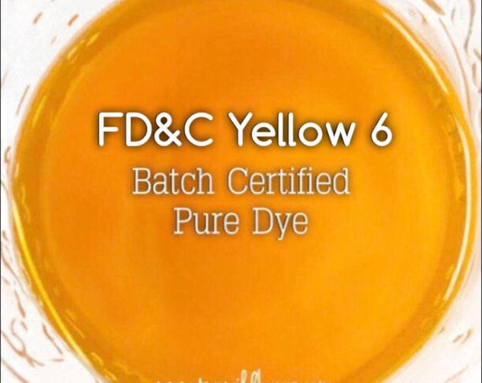 1oz. CLEMENTINE Water Soluble DYE, Batch Certified FD&C Yellow 6, 93% Pure Dye, Cosmetic Powdered Water Colorant, Two Wild Hares