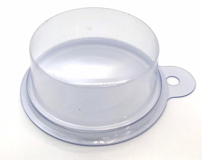 """BULK 50- Round Tablet Packaging/Mold 2.5""""-2.75"""", 3.5oz, Clear Plastic, Free Usa Ship, Two Wild Hares"""