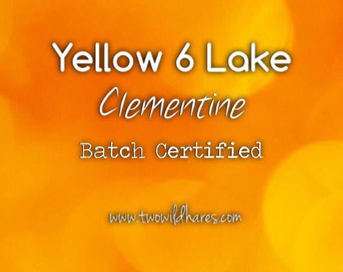 4 oz CLEMENTINE LAKE Fd&c Yellow 6 Al. Lake, 41% High Dye Load, Batch Certified, Powdered Cosmetic Colorant, Two Wild Hares