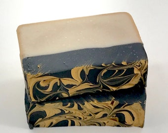 FRANKINCENSE MYRRH & GOLD Handmade Soap, 4oz, Christmas, Two Wild Hares