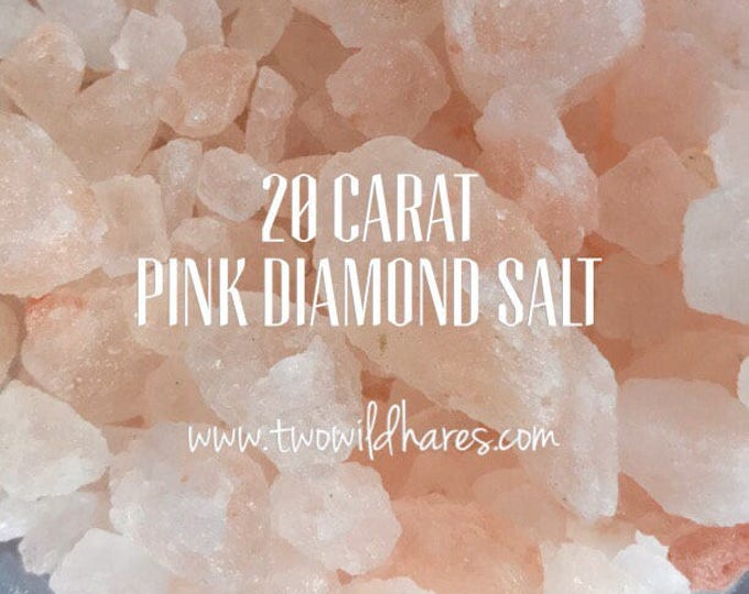"PINK Himalayan DIAMOND Rock Sea Salt, XXL Coarse Rock Grain (1/2-1 1/2""), 3 or 6 lbs, Remineralizing, Natural, Free Usa Ship, Two Wild Hares"