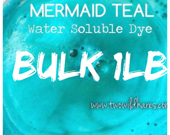 1lb Bulk MERMAID Bath Bomb DYE, 90%, Water Soluble Cosmetic Colorant, Batch Certified, Container Packaging, Two Wild Hares