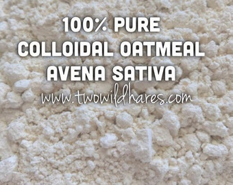 2lb COLLOIDAL OATS, Avena Sativa, Water Soluble Skin Conditioner, The Real Deal Not Ground Oats, Two Wild Hares