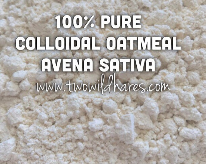 2lb COLLOIDAL OATS, Avena Sativa, Water Soluble Skin Conditioner, The Real Deal Not Ground Oats, Soapmaking, Bath Salt, DIY,Two Wild Hares