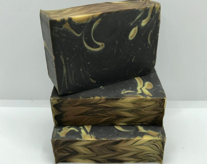 Viking Handmade Soap, Deep Amber & Wood Scent for Men, Cold Process, 4.25oz, Two Wild Hares