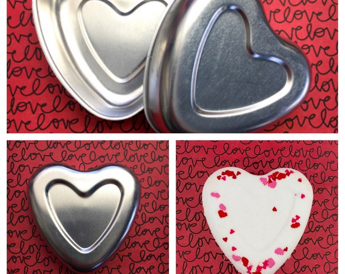 """3"""" HEART Bath Bomb & Baking Mold, Metal, Easy to Unmold, The Perfect Heart, Two Wild Hares"""