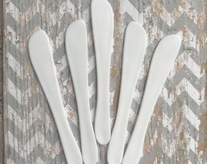 "50- Flat White Cosmetic Applicators, 2.75"", For Sugar Scrub, Body Butter, Whipped Soap, Frosting, Testers Etc. Two Wild Hares"