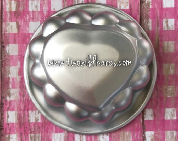 "BE MY VALENTINE Heart Bath Bomb & Baking Mold, Metal, 3"" across, 1- 1/2"" Deep, Two Wild Hares"