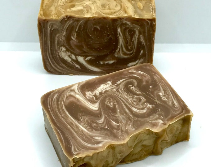SPICED CARAMEL PUMPKIN Handmade Soap, Cold Process, 4.25oz, Two Wild Hares