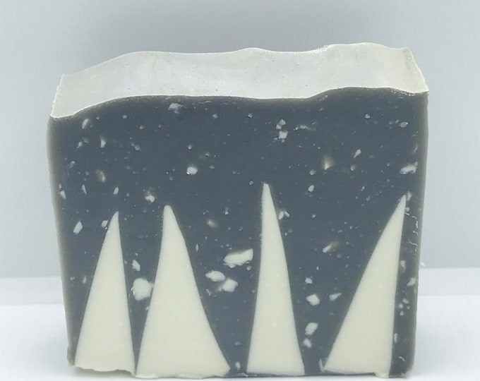 WINTER WONDERLAND Handmade Soap, Christmas, Cold Process, XL Bar 5.25oz, Two Wild Hares
