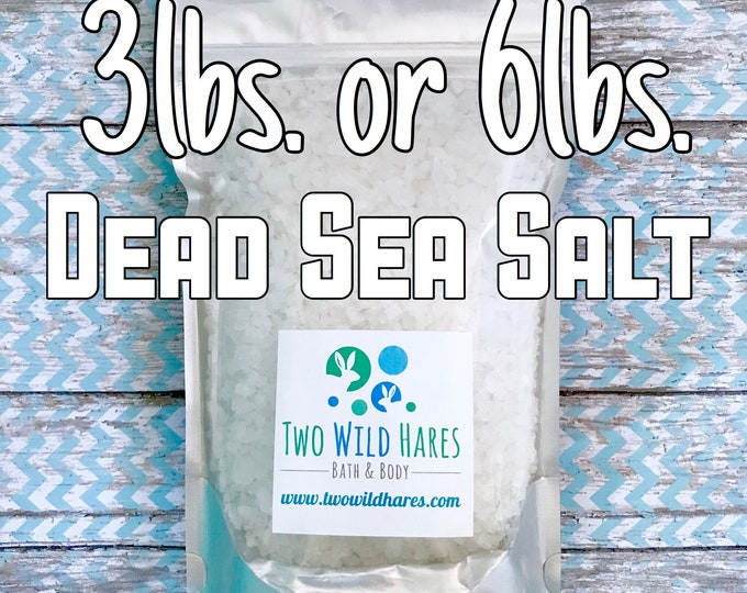 DEAD SEA Salt, Coarse Grain, Remineralizing, Natural Salt from Israel, Free Usa Ship, Two Wild Hares