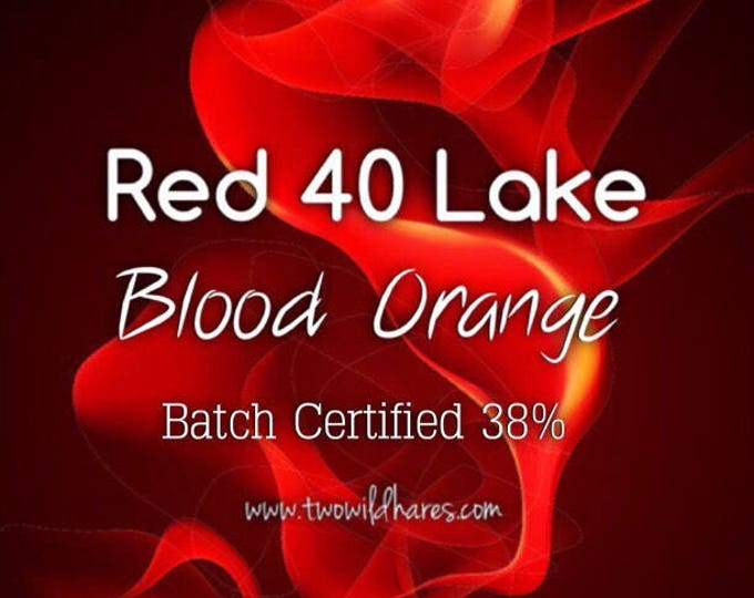 1oz or 4oz. BLOOD ORANGE LAKE, 38% High Dye Fd&c Red 40 Lake, Batch Certified, Powdered Cosmetic Colorant, Two Wild Hares