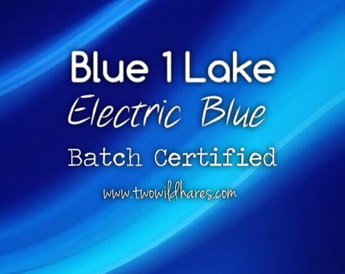 1oz or 4oz ELECTRIC BLUE LAKE Fd&c Blue 1 Lake, 41% High Dye Load, Batch Certified, Powdered Cosmetic Colorant, Two Wild Hares