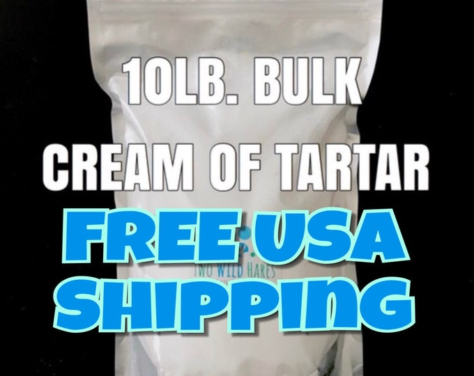 10lbs Cream of Tartar, FREE Shipping, Bubble Bar Hardener, Potassium Bitartrate, Two Wild Hares