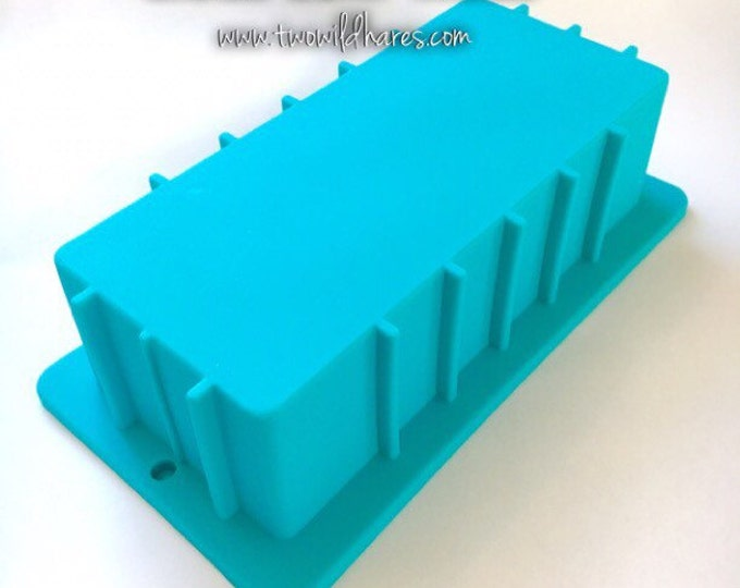 2.5 lb. Soap Loaf Mold, Heavy Duty, Non Bowing Silicone Mold, DIY Soap, Free US Ship, Two Wild Hares