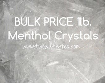 MENTHOL CRYSTALS, Bulk 1lb, 100% Mentha Arvensis, DIY Steamers, Salve, Toothpaste