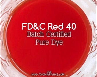 BLOOD ORANGE Water Soluble DYE, Fd&c Red 40, 94% Pure Dye, Batch Certified, Cosmetic Powdered Water Colorant, 1oz