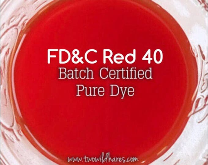 1oz. BLOOD ORANGE Bath Bomb DYE, Fd&c Red 40, 94%, Batch Certified, Powdered Water Soluble Colorant, Container Packaging, Two Wild Hares