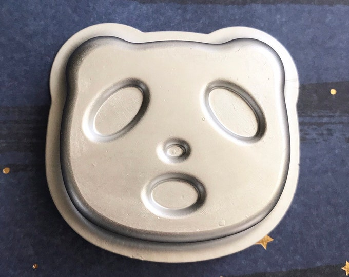 "PANDA Bath Bomb & Baking Mold, 2 1/2"" x 2 1/4"" x 1"" Metal, Two Wild Hares"