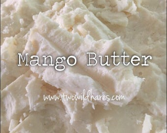 2lbs. MANGO BUTTER, Refined, Natural Skin Loving Butter, Two Wild Hares