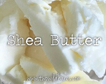 2lbs SHEA BUTTER, Refined/Deodorized, Two Wild Hares