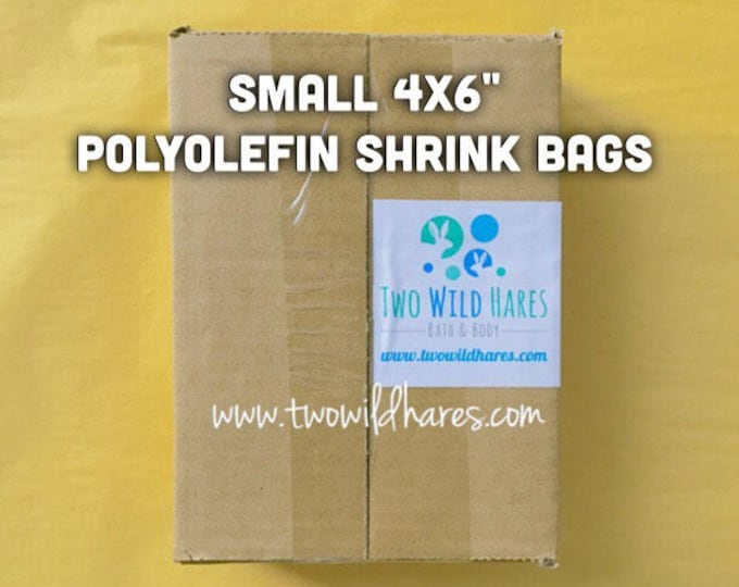 "500-SM 4x6"" POLYOLEFIN Shrink Bags, Free Us Ship, (Smell Through Plastic), 75 g, BEST Wrap Available for Soap, Bath Bombs Etc"