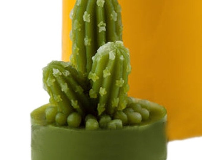 "CACTUS / SUCCULENT Silicone Mold, 3D Mold, Single Cavity, 1.5"", Free US Ship, Two Wild Hares"