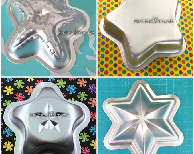 ALL THE STARS Bath Bomb & Baking Mold Set, 4 Different Metal Star Molds, Two Wild Hares