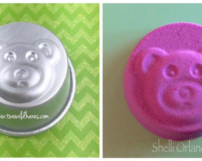 "TEDDY BEAR Bath Bomb Mold, 2.75"" Metal, 3.5-3.75 oz Kid's Bath Bomb, Two Wild Hares"