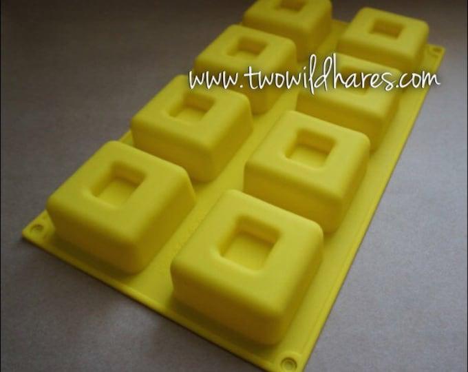 Rimmed Cube Massage Bar Mold, 3 oz Bars