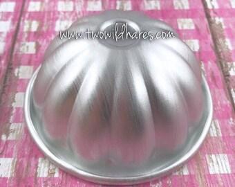 "SMALL PUMPKIN TOP Bath Bomb Mold, Metal, 2 3/4"", 1 piece, Halloween, Fall, Autumn, Thanksgiving, Two Wild Hares"