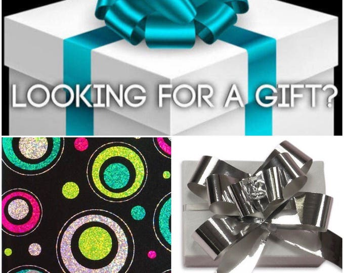PERSONALIZED GIFT WRAP Service, A Note, A Box, Gift Wrap, Tissue/Paper Shred & A Bow!
