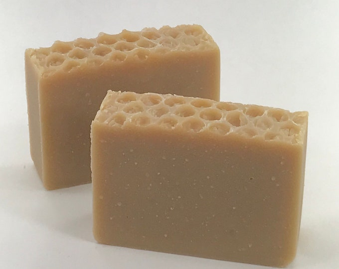 OATMEAL, MILK & HONEY Handmade Soap, Made With Real Milk and Colloidal Oatmeal, 4oz, Two Wild Hares