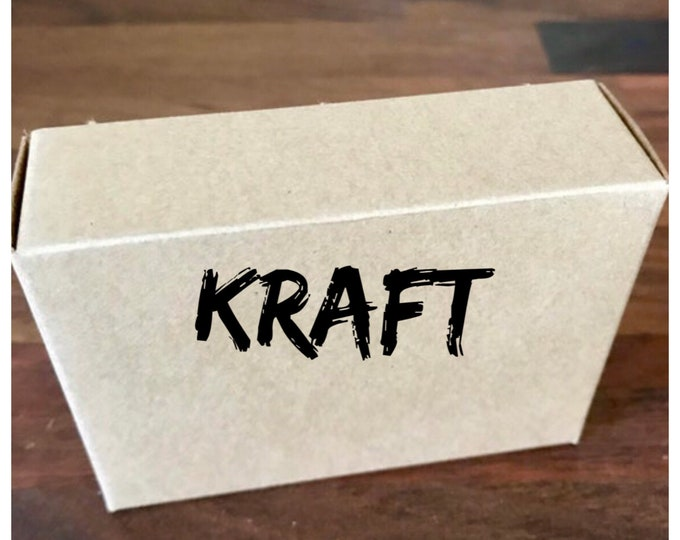 "25- KRAFT Boxes, 100% Recyclable, 2 3/4"" x 3 13/16"" x 1 3/16"" deep, Eco Friendly Soap Packaging, Two Wild Hares"