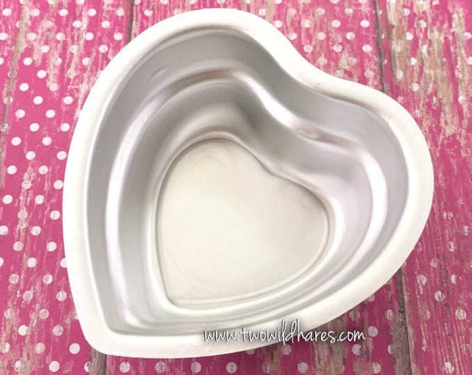 "STACKED 2 TIERED HEART Bath Bomb Mold, Metal, 3 1/2"" across, 1 3/4"" Extra Deep Mold, Two Wild Hares"