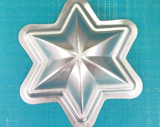 "STAR OF DAVID Bath Bomb Mold, Six Point Star Metal, Hexagram, 4 3/8"" x 1 1/8"", Two Wild Hares"