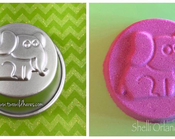 "ELEPHANT Bath Bomb & Baking Mold, 2.75"", Metal, Makes A 3.5-3.75 oz Bath Bomb, Two Wild Hares"