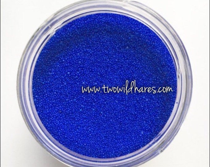 JOJOBA BEADS BLUE Electric, 20/40 Exfoliant Safe Alternative to Microbeads for Bath Products