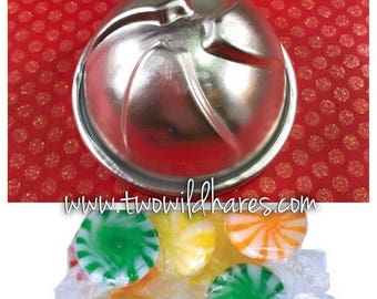 "LOLLY/ PEPPERMINT Bath Bomb Mold, Metal, 3"", Swirl Candy or Beachball Shape, Two Wild Hares"