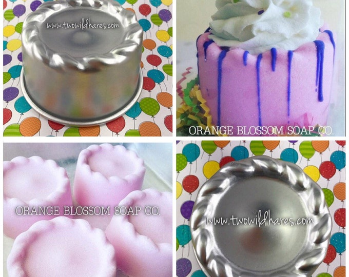 "BIRTHDAY BASH, Bath Bomb & Baking Mold, Metal, 4"" Across, Birthday Cake Bomb Time! Two Wild Hares"