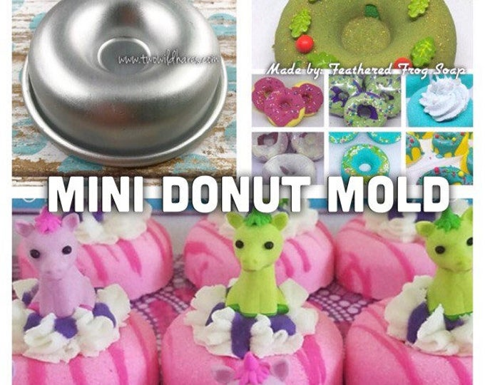 "MINI DONUT Bath Bomb Mold, Metal, 2 5/16"", Two Wild Hares"