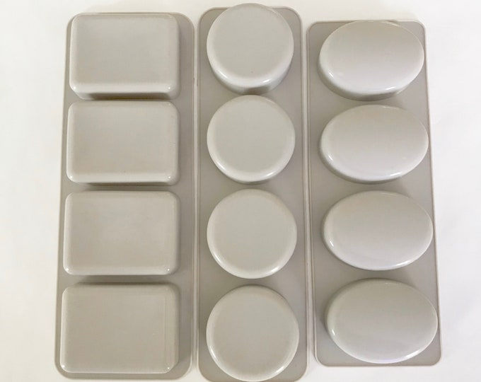 ALL 3 SHAPES Soap Mold Set- Rectangle, Oval, Round Bars, Loofah Soap, Silicone, Cold Process, DIY Soapmaking, Melt & Pour, Two Wild Hares