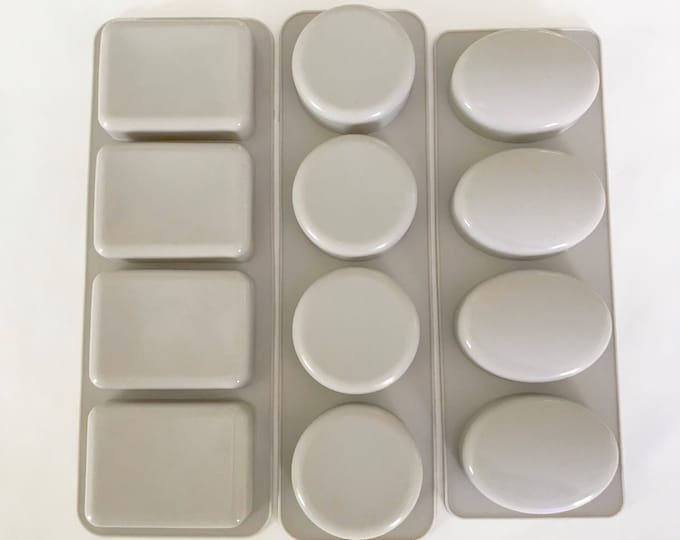 ALL 3 SHAPES Soap Mold Set- Rectangle, Oval & Round Soap Trays, Heat Safe, Cpop, Cold Process, DIY Bath, Two Wild Hares